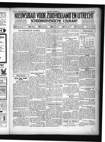 Schoonhovensche Courant 1937-02-08