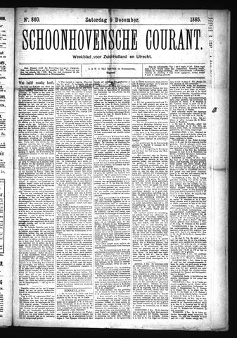 Schoonhovensche Courant 1885-12-05