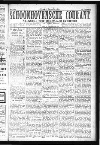 Schoonhovensche Courant 1924-09-19