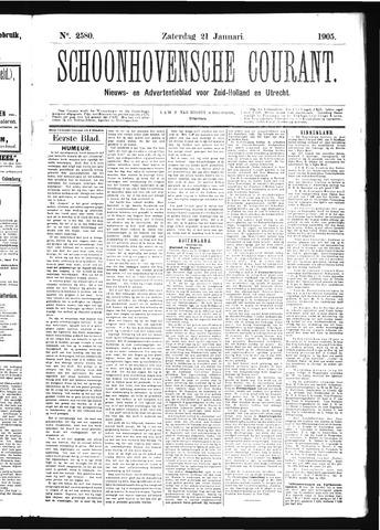 Schoonhovensche Courant 1905-01-21
