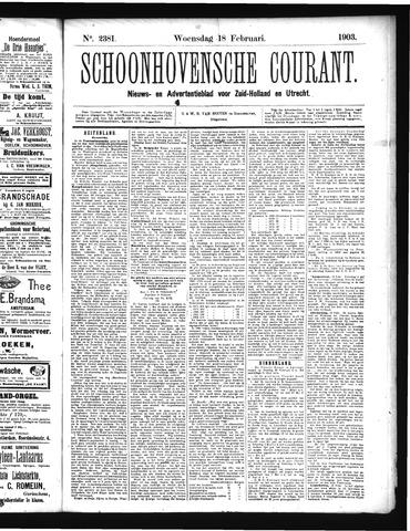 Schoonhovensche Courant 1903-02-18