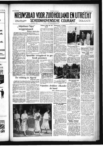 Schoonhovensche Courant 1956-06-04