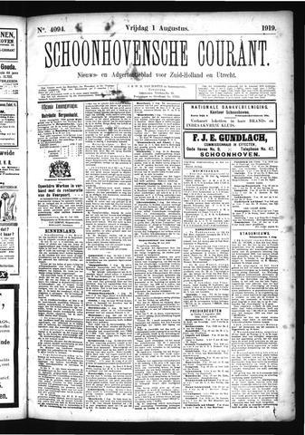 Schoonhovensche Courant 1919-08-01