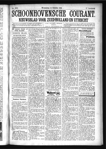 Schoonhovensche Courant 1925-10-14