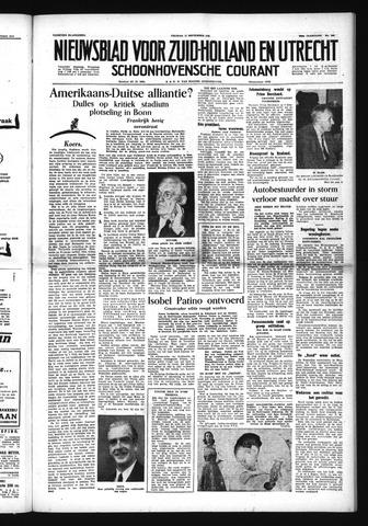 Schoonhovensche Courant 1954-09-17