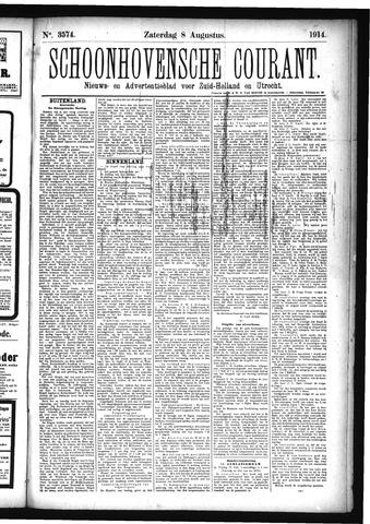 Schoonhovensche Courant 1914-08-08