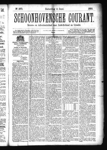 Schoonhovensche Courant 1892-06-04