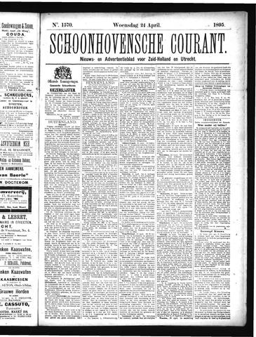 Schoonhovensche Courant 1895-04-24