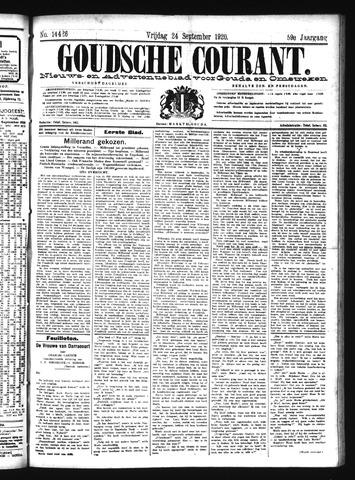 Goudsche Courant 1920-09-24