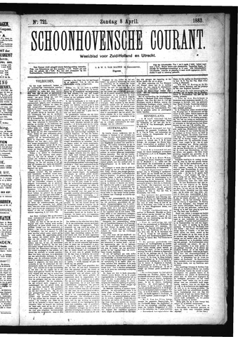 Schoonhovensche Courant 1883-04-08