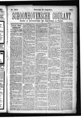 Schoonhovensche Courant 1913-08-23