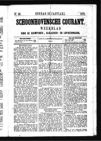 Schoonhovensche Courant 1870-01-23