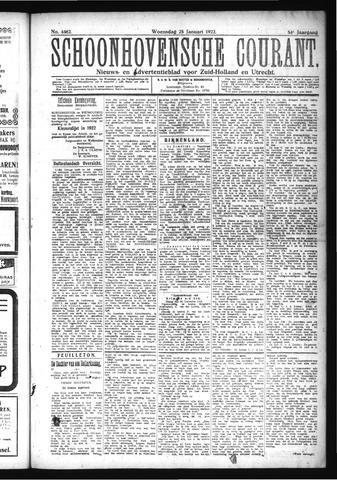 Schoonhovensche Courant 1922-01-25