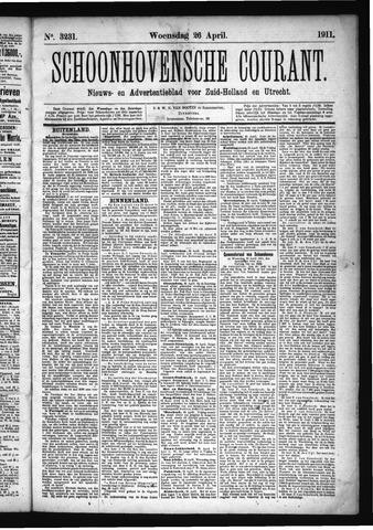 Schoonhovensche Courant 1911-04-26