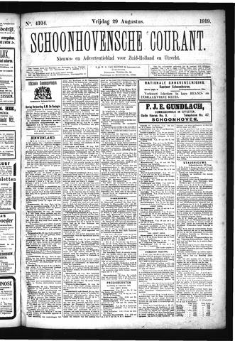 Schoonhovensche Courant 1919-08-29