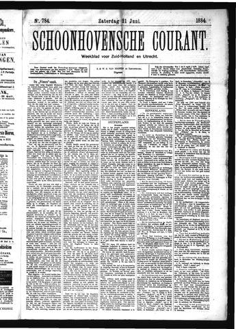 Schoonhovensche Courant 1884-06-21