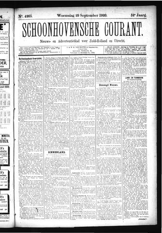Schoonhovensche Courant 1920-09-29