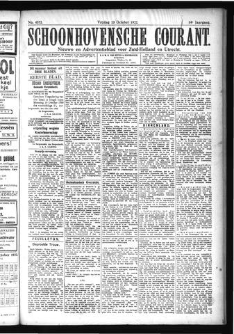 Schoonhovensche Courant 1922-10-13