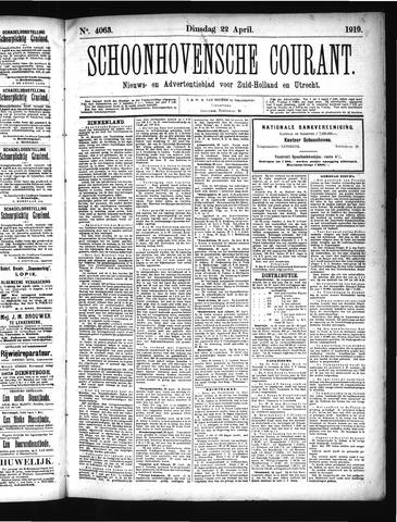 Schoonhovensche Courant 1919-04-22