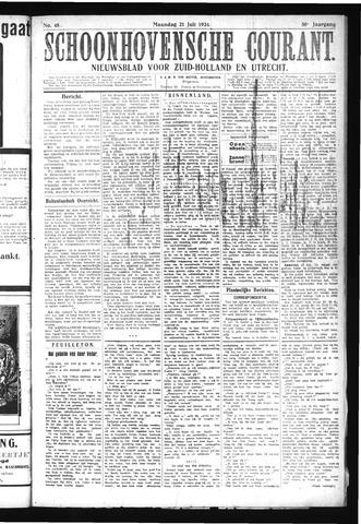 Schoonhovensche Courant 1924-07-21