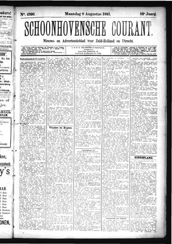 Schoonhovensche Courant 1921-08-08