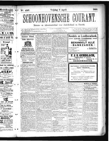 Schoonhovensche Courant 1920-04-09