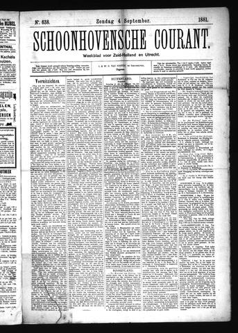 Schoonhovensche Courant 1881-09-04