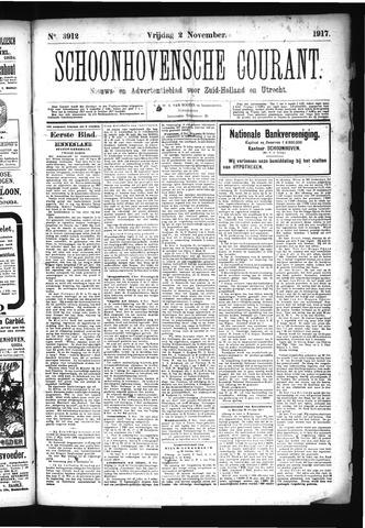 Schoonhovensche Courant 1917-11-02