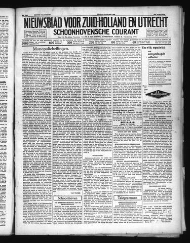 Schoonhovensche Courant 1938-03-25