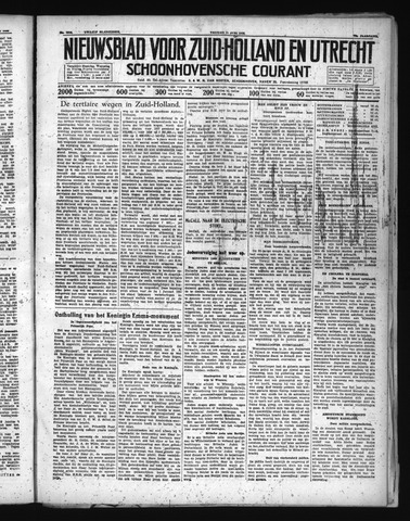 Schoonhovensche Courant 1938-06-17