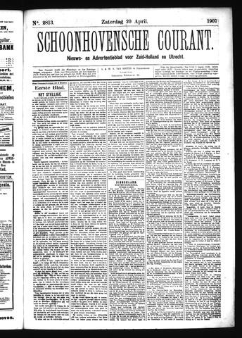 Schoonhovensche Courant 1907-04-20