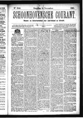 Schoonhovensche Courant 1898-11-19