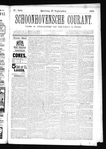 Schoonhovensche Courant 1913-09-27