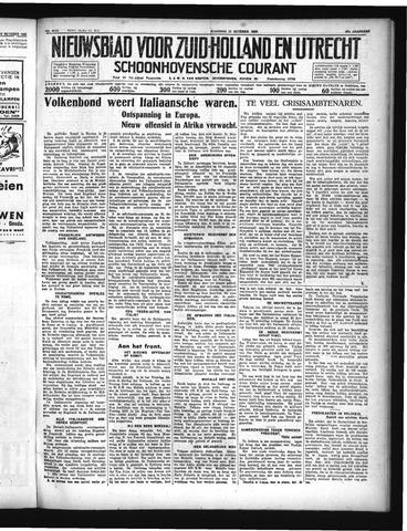 Schoonhovensche Courant 1935-10-21