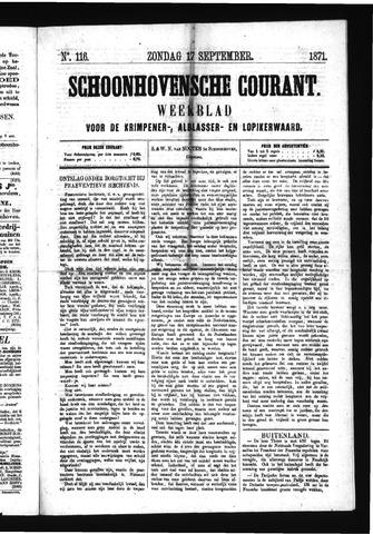 Schoonhovensche Courant 1871-09-17