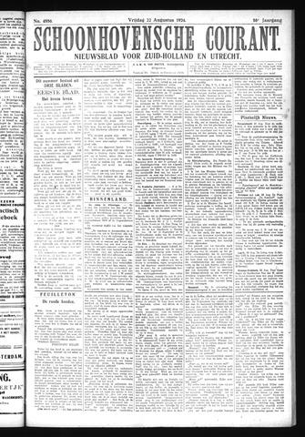 Schoonhovensche Courant 1924-08-22