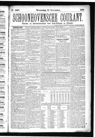 Schoonhovensche Courant 1913-11-12