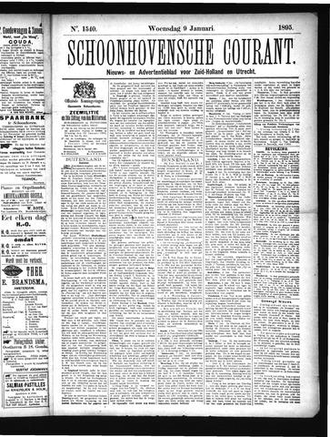Schoonhovensche Courant 1895-01-09
