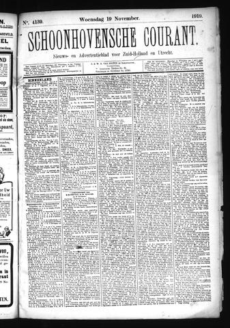 Schoonhovensche Courant 1919-11-19