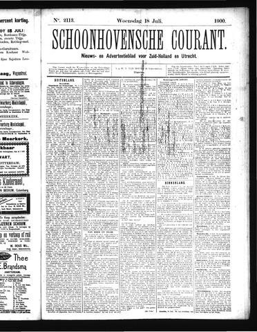 Schoonhovensche Courant 1900-07-18