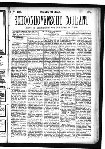 Schoonhovensche Courant 1920-03-22