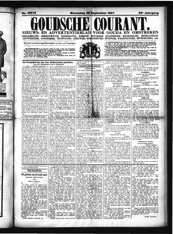 Goudsche Courant 1927-09-28