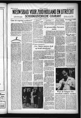 Schoonhovensche Courant 1957-02-22