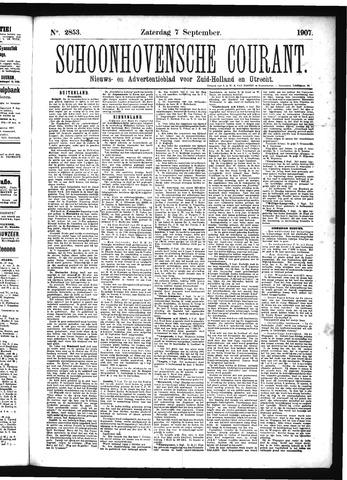 Schoonhovensche Courant 1907-09-07