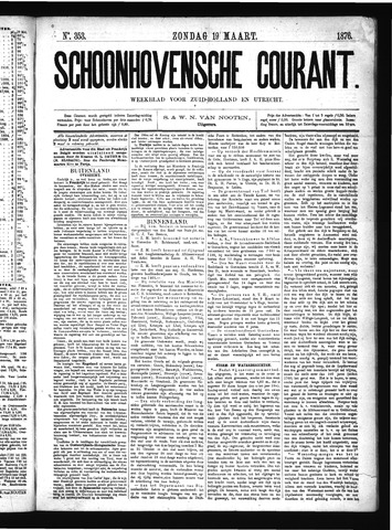 Schoonhovensche Courant 1876-03-19