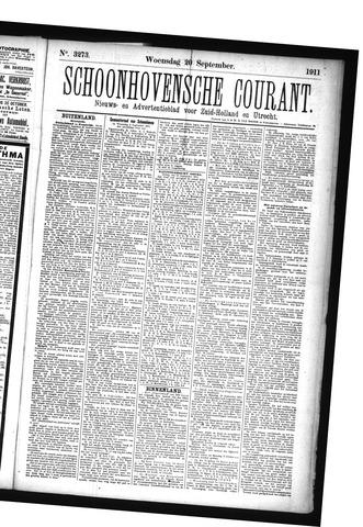 Schoonhovensche Courant 1911-09-20