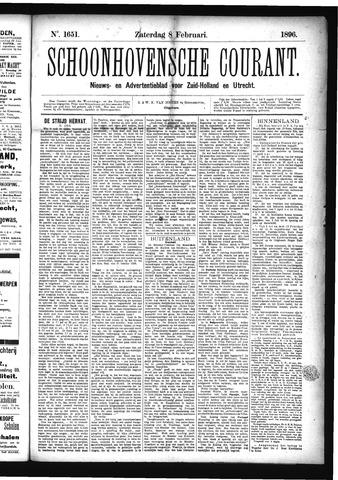 Schoonhovensche Courant 1896-02-08