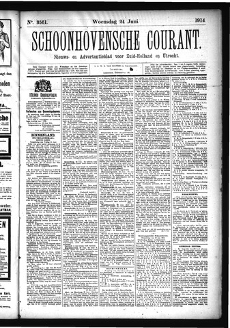 Schoonhovensche Courant 1914-06-24