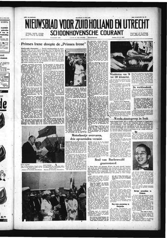 Schoonhovensche Courant 1958-07-14