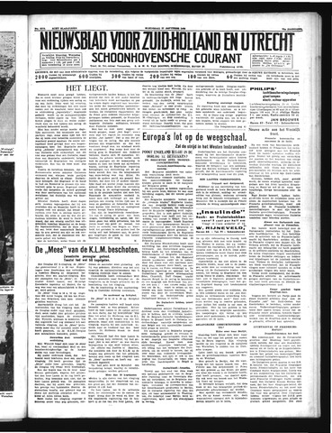 Schoonhovensche Courant 1939-09-27